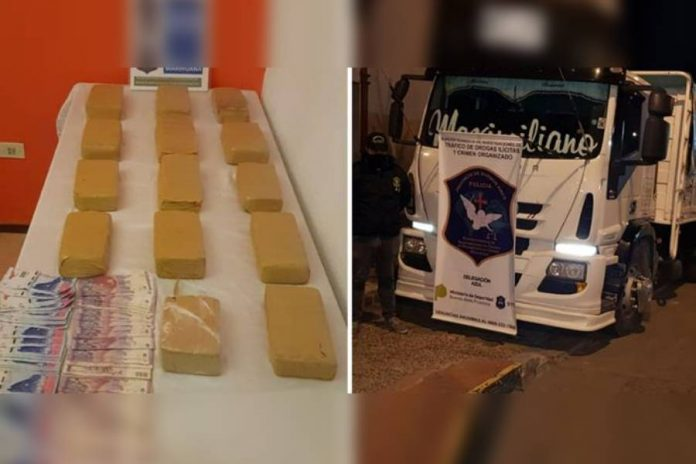 interceptaron camión con marihuana en ruta 3